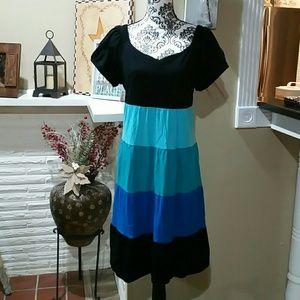 Plus size color block dress